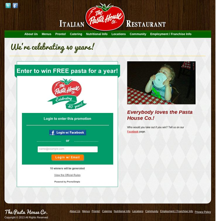 Pasta House Giveaway