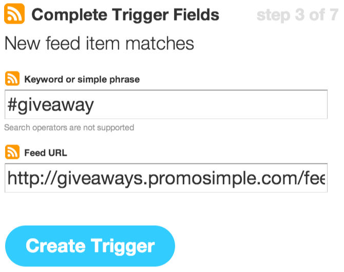 IFTTT Trigger Fields