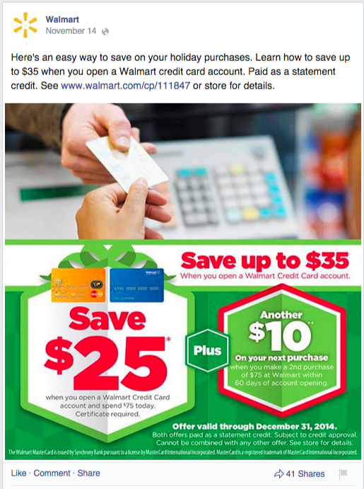 walmart promotional post