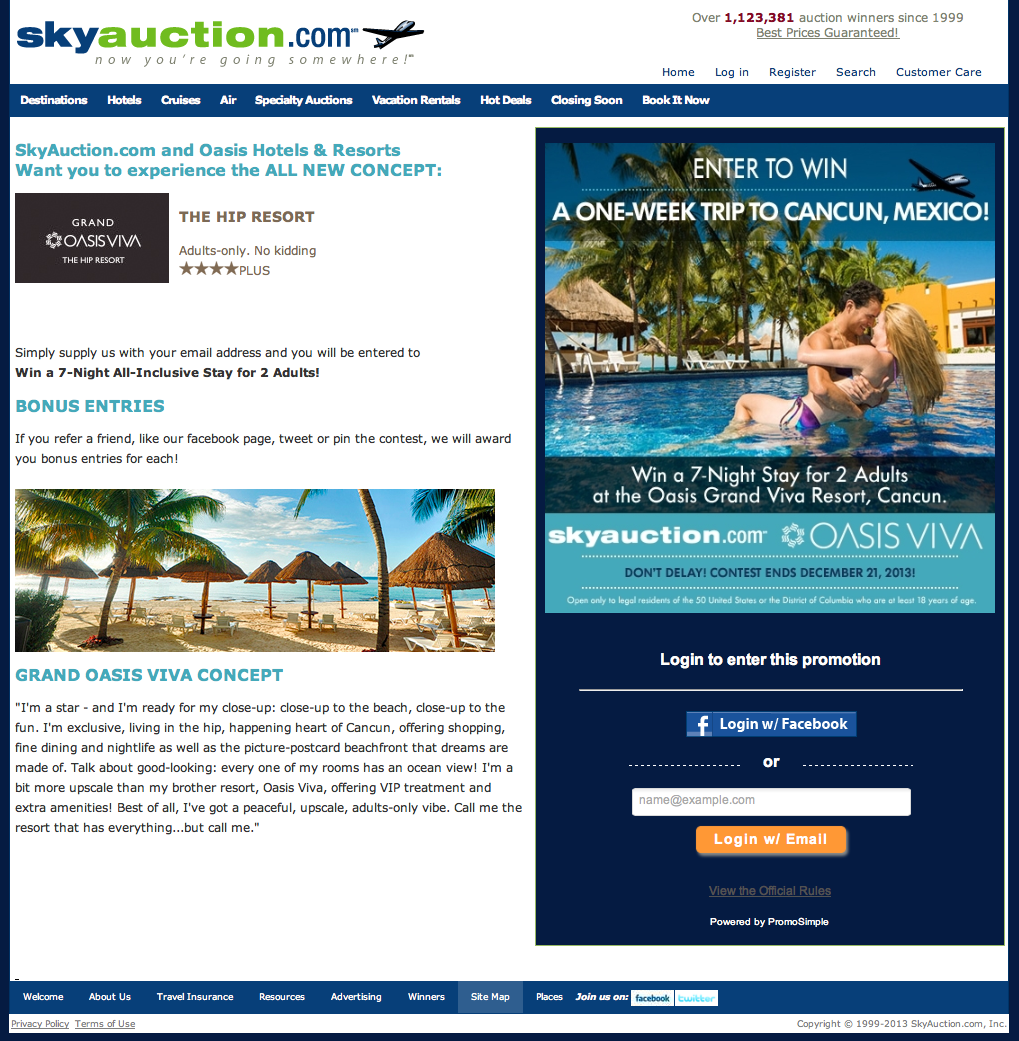 Email Integrations for Sweepstakes | PromoSimple