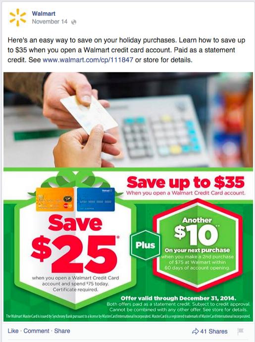 walmart promotional post