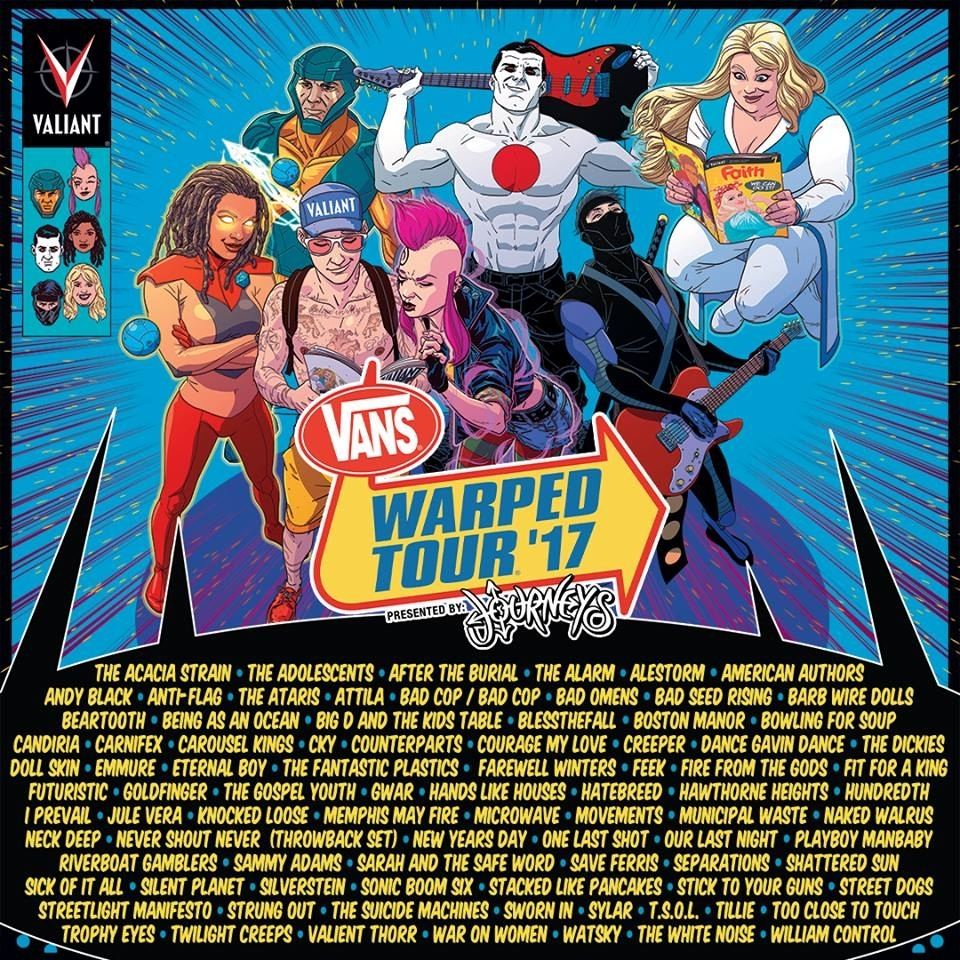 Win Tickets To Warped Tour 2017 At Pnc Bank Arts Center