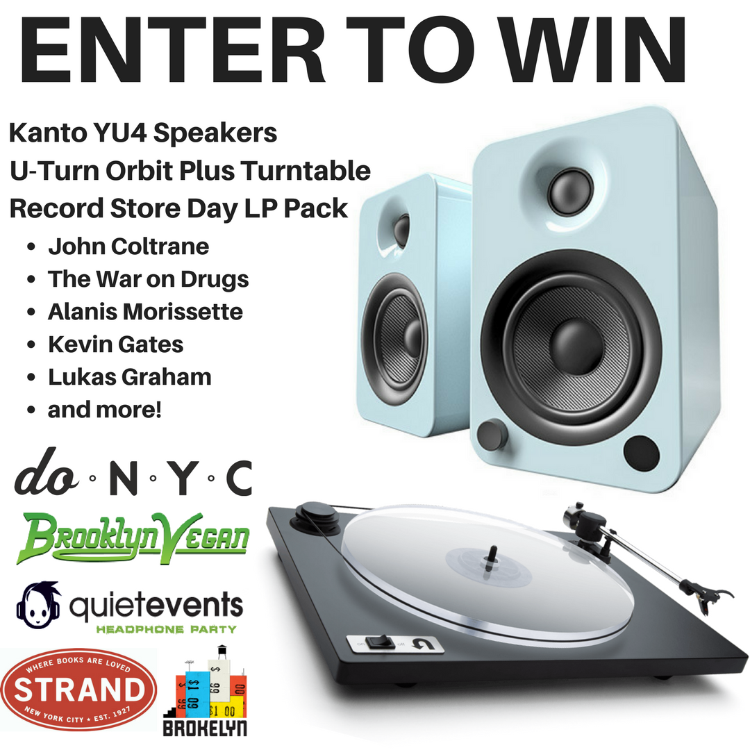 Win Kanto Speakers, a U-Turn Turntable, and a R